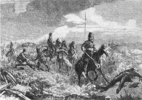 Казаки. Иллюстрация из журнала, 1864 г.