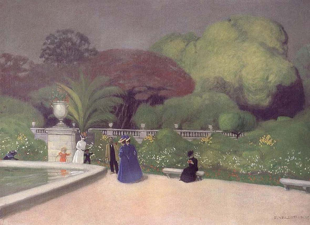 Люксембургский сад. 1905. Феликс Валлоттон  (1865-1925) Франция, Швейцария