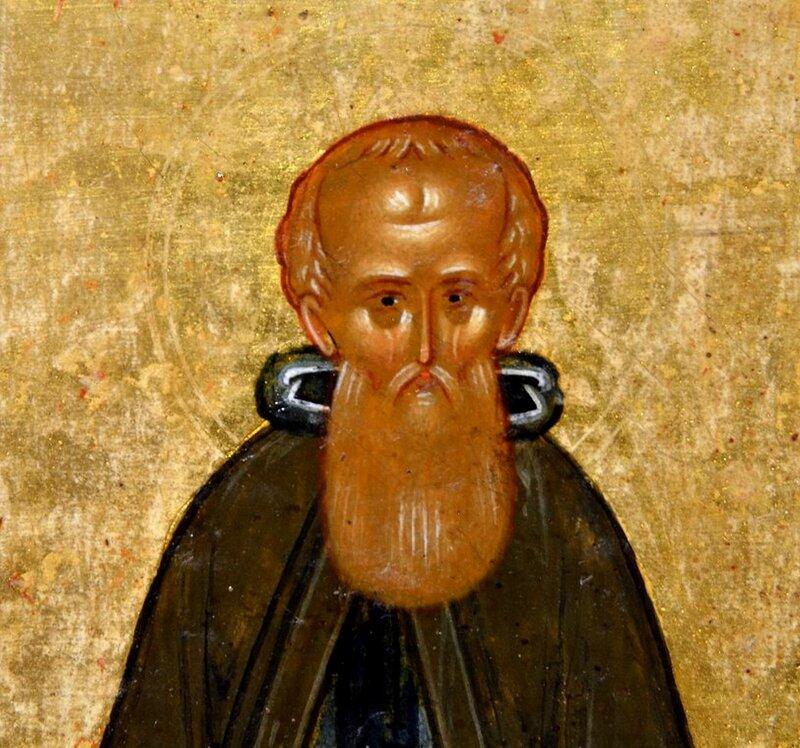 Святой Преподобный Сергий Радонежский. Фрагмент новгородской иконы конца XV века.