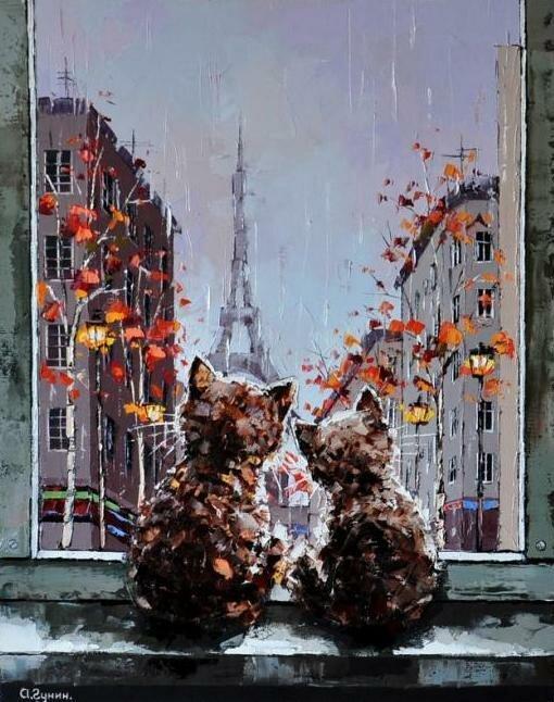 Александр Гунин. Дождь за окном.