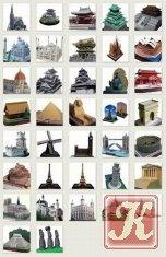 Книга Canon. Бумажные модели известных архитектурных сооружений стран мира