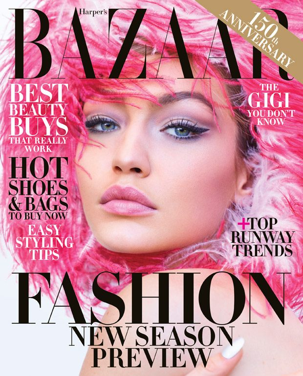 Gigi Hadid Dazzles for Harper's Bazaar June July 2017 Cover Story
