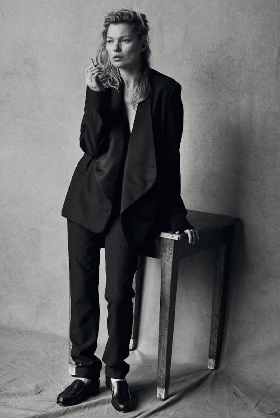 Kate Moss Unphotoshoped Portraits by Peter Lindbergh
