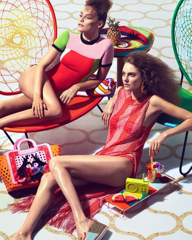 Glamorous New Poolside Fashion by Andrew Yee for The Financial Times