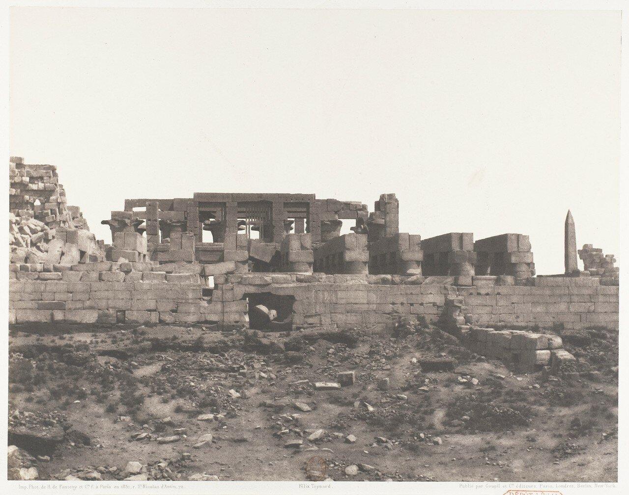 Карнак. Развалины дворца с точки «H»