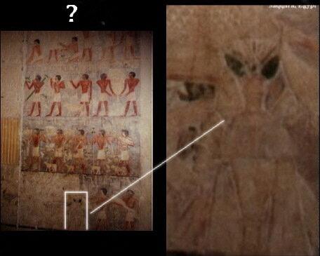"""""""Инопланетянин"""" на одной из египетских фресок"""