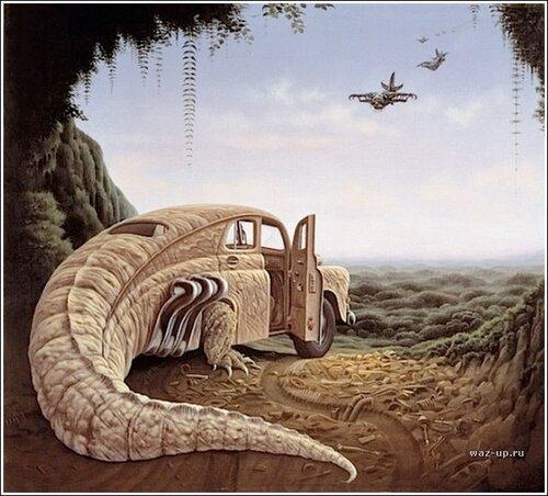 Иллюстратор Jacek Yerka и жители сказочной страны Yerkaland