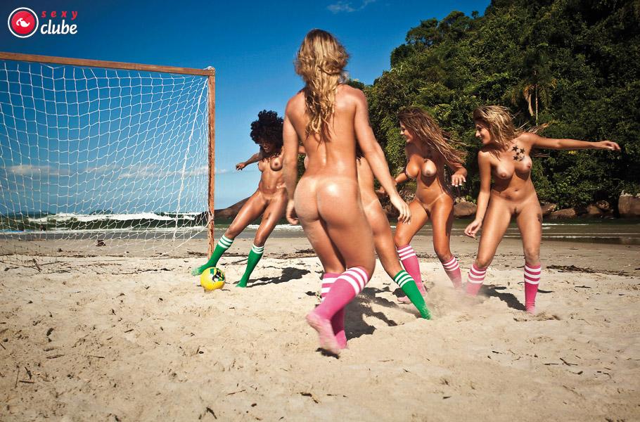 голые девушки и пляжный волейбол-йф1