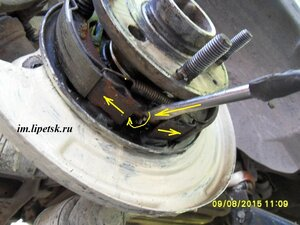 развести колодки в барабане chevrolet lacetti