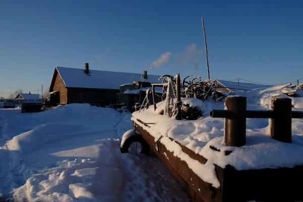 Заснеженное село