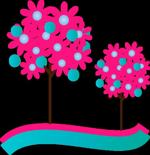 рисованные деревья