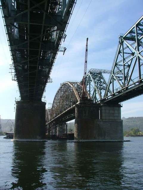 разборки старого жд моста