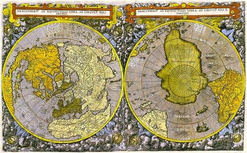 Карта мира предположительно 1593 года