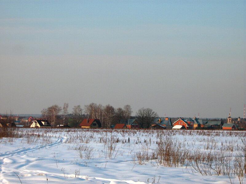 Поселок и крыши