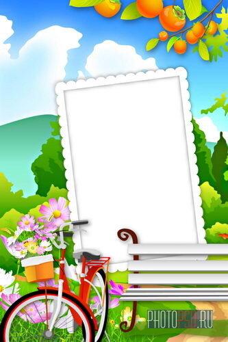 Яркая рамка для фотошопа
