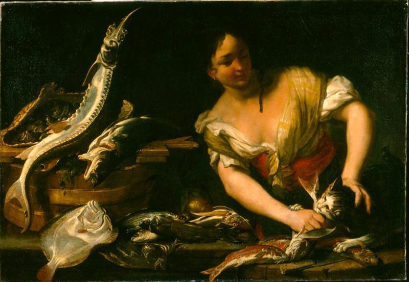 Торговка рыбой Якоб ван де Керкховен  автор  холст, масло  98,5х142,5 см.jpg