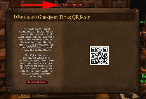 Wowhead Garrison Timer QR Code 6.1.0