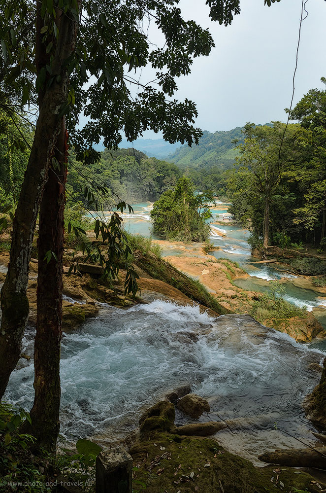 Фотография 6. Каскад водопадов Голубая Вода (Agua-Asul в штате Чьяпас. Отзыв о самостоятельном отдыхе в Мексике.