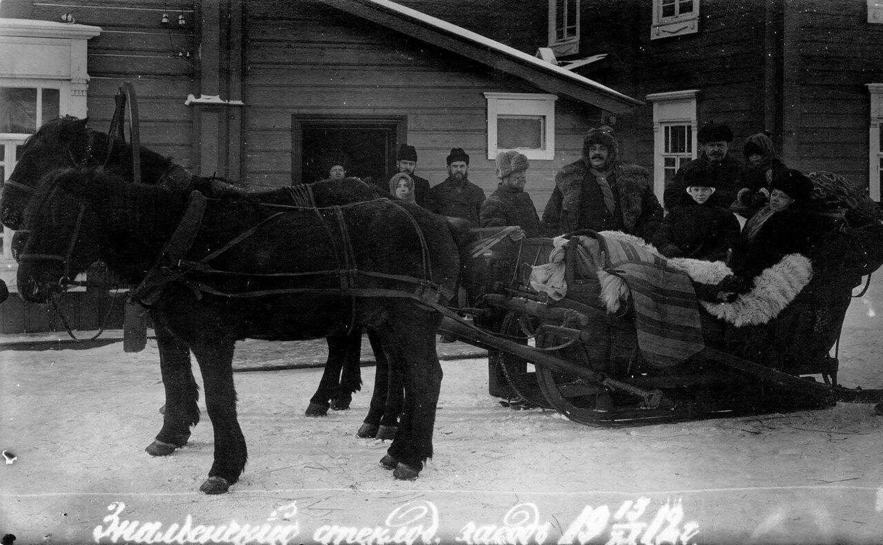 Красноярский уезд, Знаменский стекольный завод.  15 ноября 1912