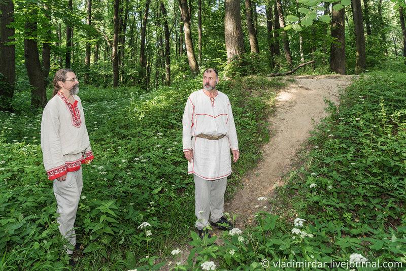 Ритуал у курганов вятичей в Царицыно