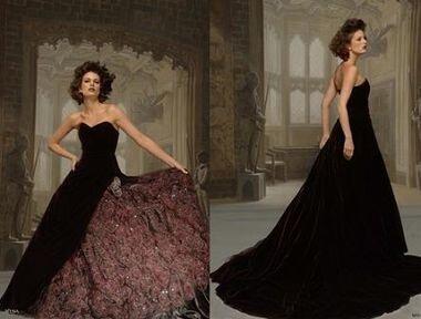 Купить чёрное свадебное платье