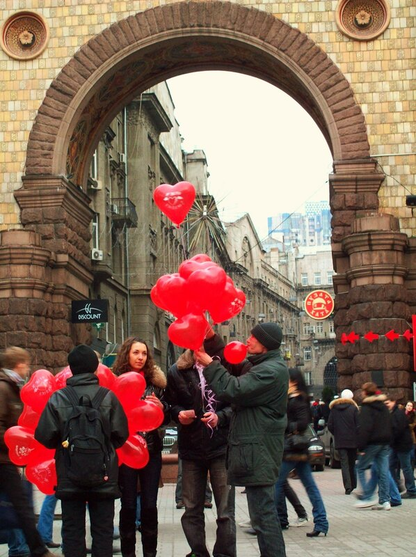 Воздушные шары на Крещатике