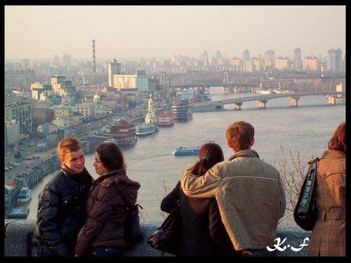 Киев | Вид с площадки обозрения