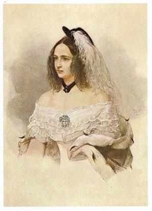 В.Гау Портрет Натальи Николаевны Пушкиной 1843 г.