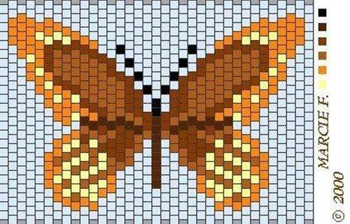 Бабочки из бисера.