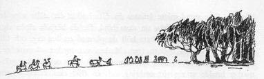 Иллюстрация Туве Янссон к Хоббиту Толкиена (Начало Чёрного Леса)