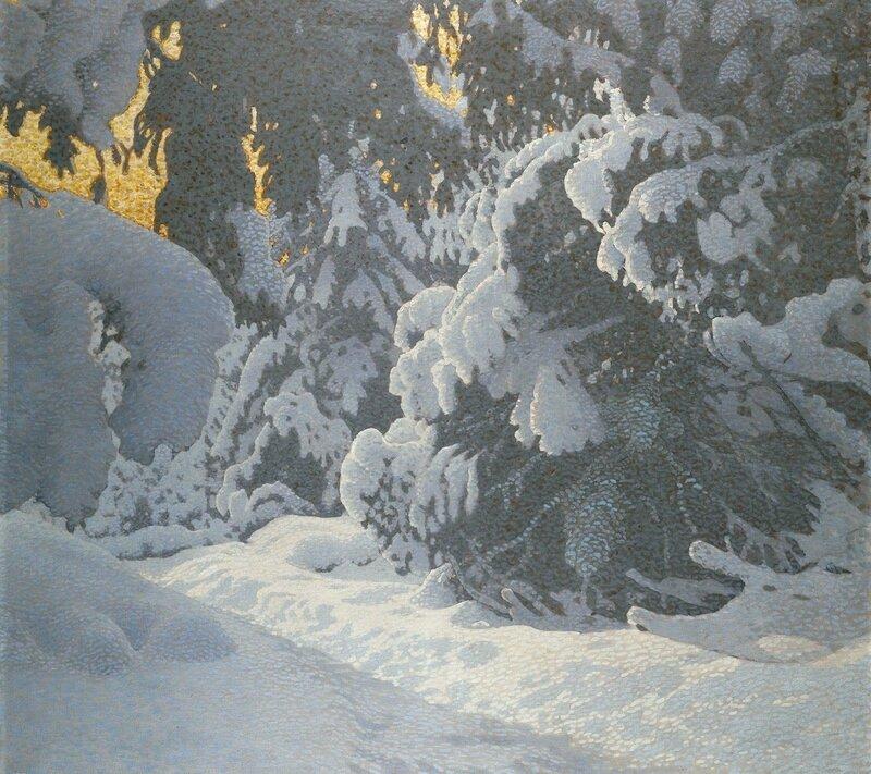 Gustaf Fjaestad. Зимний пейзаж (3).jpg
