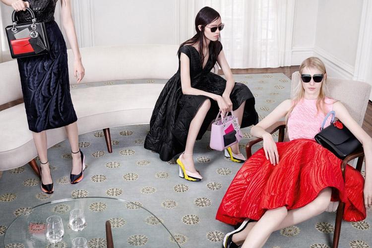 Юлия Нобис, Елена Северин и Касиа Южечка в рекламе Dior (4 фото)