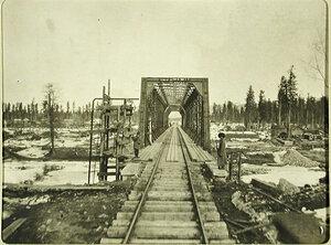 Вид железнодорожного моста вблизи станции Мурино