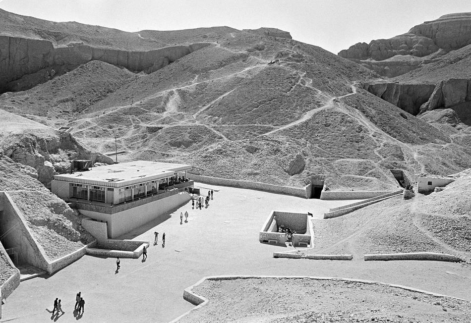 Вход в гробницу Тутанхамона, Луксор, 16 июля 1979