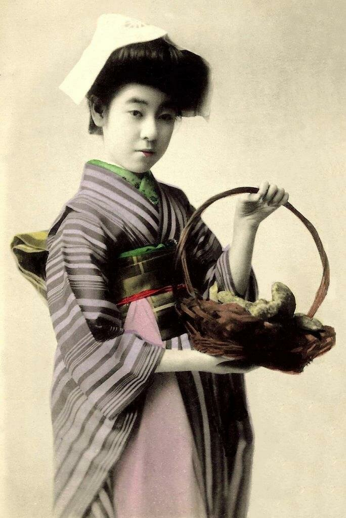Эйрю, гейша района Шинбаши в Токио эпохи Мэйдзи