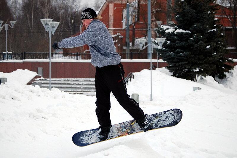 Тренировка сноубордиста