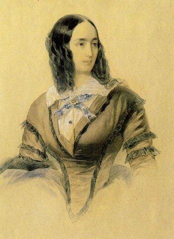 В.Гау. Портрет Натальи Николаевны Пушкиной 1842 г.