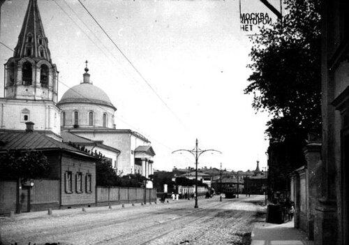 Церковь Вознесения на Большой Никитской улице. Фотография из собрания Э.В. Готье-Дюфайе