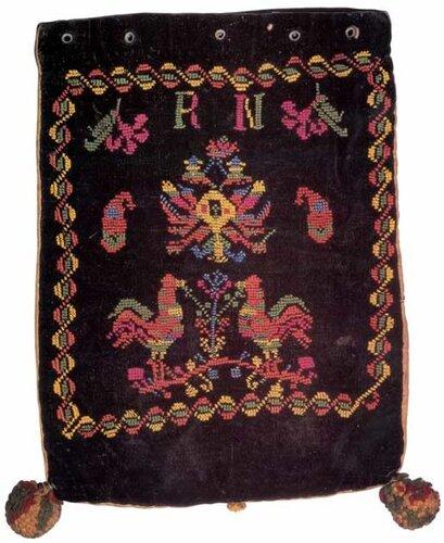 Сумка для хранения тфиллин (1900 г., бархат, вышивка шелком)