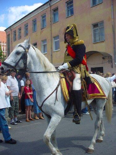Сражение Фридланд Наполеон на коне.