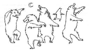 Иллюстрация Туве Янссон к Хоббиту Толкиена (медведи)