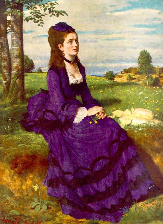 Lady in Violet. (1874)Дама в фиолетовом, (1874),Синьеи-Мерше, Пал(1845-1920)