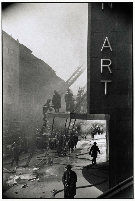 USA. New York. New York. 1958. A fire at the Museum of Modern Art.jpg