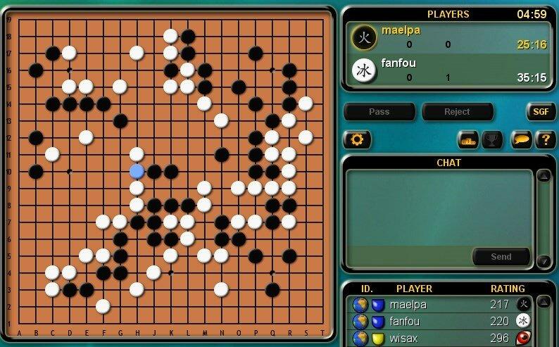 Интерфейс интерактивного варианта игры в Го