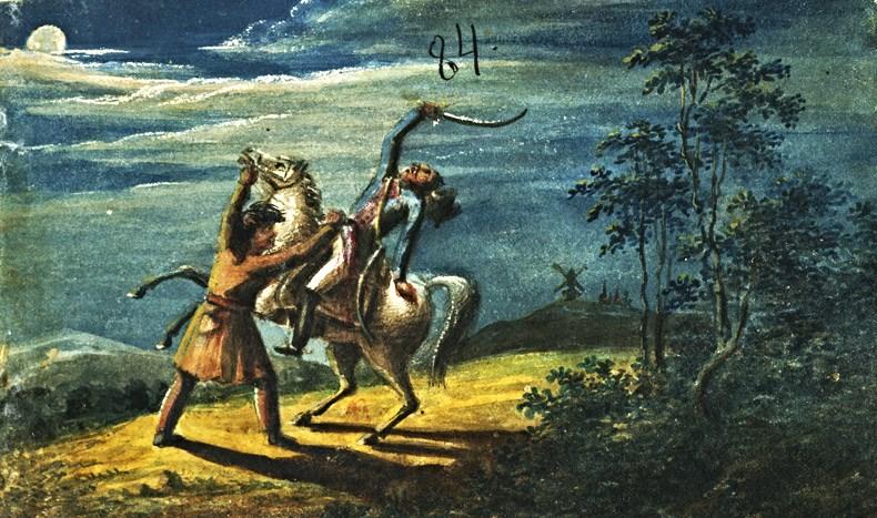 Нападение. Рисунок акв. 1829.jpg