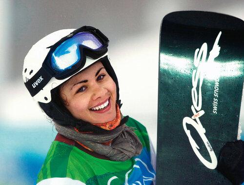 Первая медалистка олимпийской сборной России в сноуборде