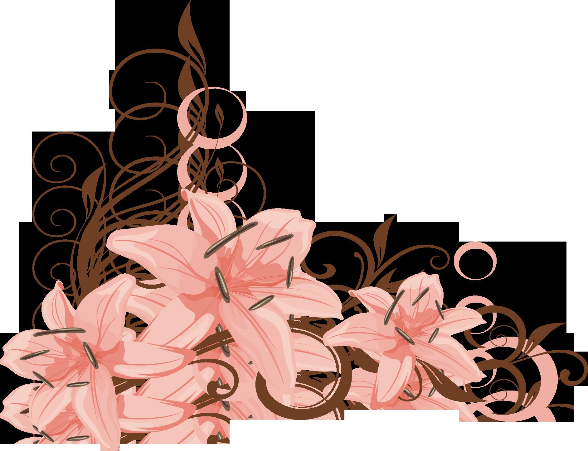 Узор из цветов png