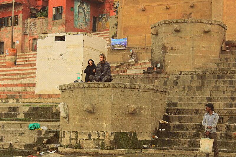 Варанаси, наблюдательные балкончики для туристов и паломников