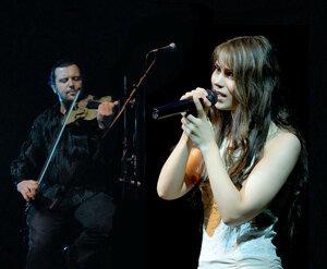 Олия и Костя Плеханов (скрипка)