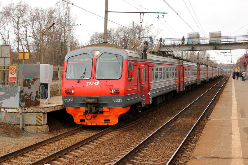 ЭД4М-0321 на перегоне Тушино-Подмосковная, пл Ленинградская